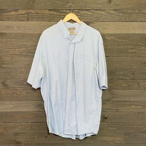 Duluth Trading Co Blue Plaid Button Down